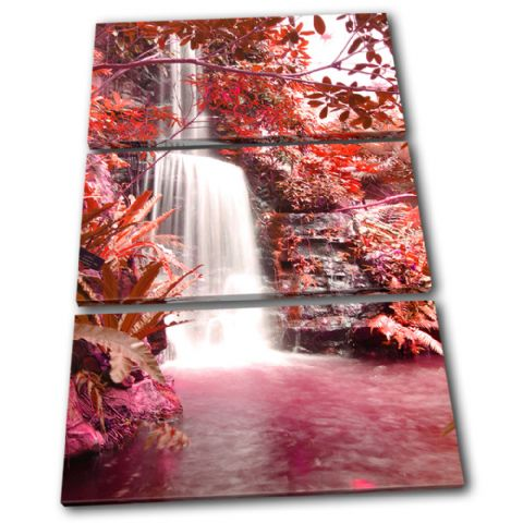 Waterfall Forest Red Landscapes - 13-0219(00B)-TR32-PO